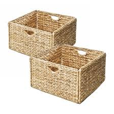 seville classics woven hyacinth storage cube basket set of 2 by