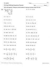 printables multi step equation worksheet ronleyba worksheets