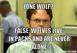 Lone Wolf Meme - how isolation is killing men
