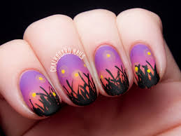palm tree sunset gradient nail art tutorial маникюр пальмы youtube
