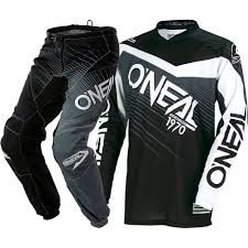 motocross gear cheap combos new oneal 2018 youth mx element black grey jersey pants kids