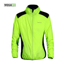 fluorescent cycling jacket wosawe breathable windproof fluorescent cycling jacket softshell
