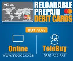 loadable debit card mg cards mgcardsza