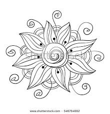 flower isolated art coloring stock vector 546764662