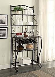 What Do You Put On A Bakers Rack Amazon Com Verdugo Gift Bakers Style Wine U0026 Glass Rack
