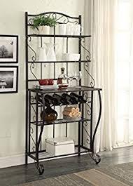 Wood Bakers Racks Furniture Amazon Com Kings Brand Furniture Metal With Wood Bakers Rack
