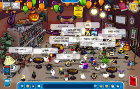 club penguin background halloween club penguin meeting aunt arctic halloween 2011 6th anniversary