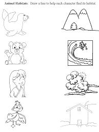 animal habitat worksheets for kindergarten worksheets