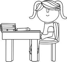 Student Desk Clipart Black And White Black And White Kids Painting On Easel Askartelu