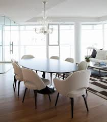 new york oval dining tables room contemporary with chair clear