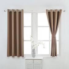 Short Length Blackout Curtains Amazon Com Yoja Thermal Insulated Short Blackout Curtains Grommet