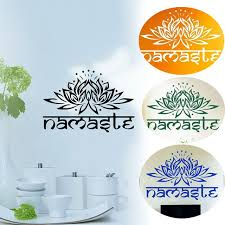 wall ls in bedroom fashion india namaste word religion wall stickers decal lotus