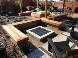 Modern Outdoor Patio by Eye Catcher Patio Landscape With Modern Outdoor Fireplace Wood
