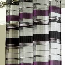 Grey And Purple Curtains Como Purple Organza Panel Net Curtain 2 Curtains