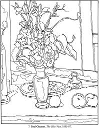 picasso self portrait coloring page