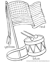 july 4th coloring pages independence day flag and drum coloring
