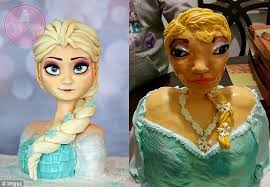 Frozen Birthday Meme - frozen s elsa birthday cake from mc greevey cakes had terrifying