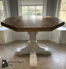 round breakfast nook table diy octagon round breakfast table mickey and megan s blog