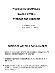 226701348 welding consumables ppt welding chemical elements