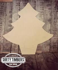 unfinished christmas tree door hanger holiday diy blank
