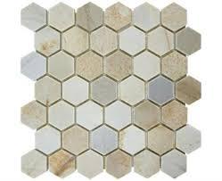 desert sand 2 inch hexagon decor bath