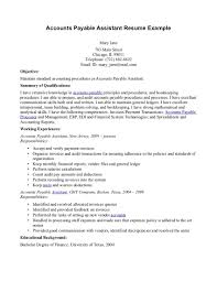 Objective On A Resume Examples Stunning Sample Resumes For Accounts Payable Resume Cv Cover