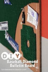 diy baseball diamond bulletin board landeelu com