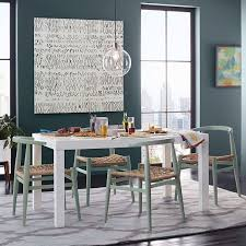 glass parsons dining table parsons dining table rectangle west elm