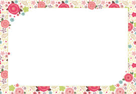 blank invitations blank invitations rectangle landscape pink green flower