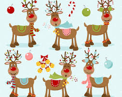 Commercial Reindeer Christmas Decorations by Red Nosed Reindeer Etsy