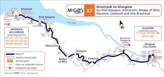 Via Bus Route Map Mcgills 530 Greenock Kilmacolm To Glasgow Via Bridge Of Weir