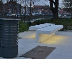 Bench Lighting Led Line Concrete Bench With Integral Led Strip Lighting