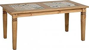 Waxed Pine Dining Table Salvador Tile Top Dining Table In Distressed Waxed Pine Co