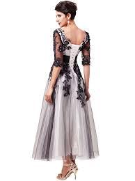 rochii vintage rochie alb negru stil vintage r41