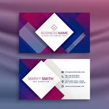Bisness Card Design Modern Purple Business Card Design For Your Brand Vector Free