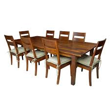 crate and barrel farmhouse table crate barrel rustic mango wood farm table side chairs ebth