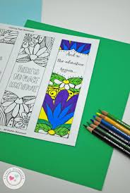 free printable coloring page with bookmarks crafty housewife