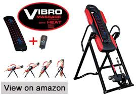 inversion table herniated disc inversion table with heat and massage which is best for your