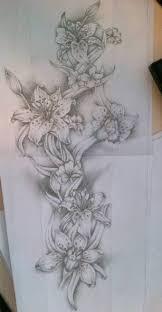 Leopard Print Flower Tattoos - flower full sleeve tattoo design by tattoosuzette on deviantart