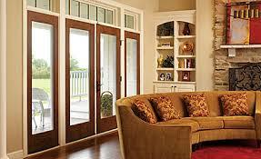 Oak Patio Doors Fiber Classic Oak Hinged Patio Door
