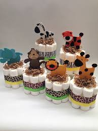 six safari diaper cakes baby shower centerpiece new baby