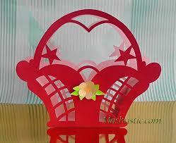 christmas paper craft u2013 a gift basket mashustic com
