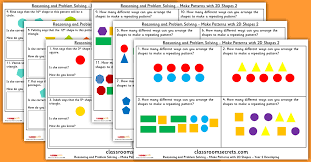 shape pattern year 2 make patterns with 2d shapes year 2 geometry reasoning and problem