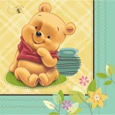 amazon winnie pooh u0027baby pooh u0027 small napkins 16ct toys