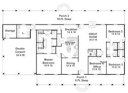 4 bedroom ranch style house plans one rectangular house plans circuitdegeneration org