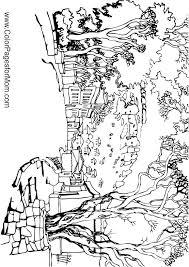 coloring pages for landscapes landscape coloring pages landscape adult coloring page city