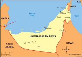 Dubai On A Map Map Of United Arab Emirates And Saudi Arabia World Maps