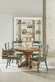 Pedestal Tables And Chairs Magnolia Home Farmhouse Top Tier Pedestal Table Levin Furniture