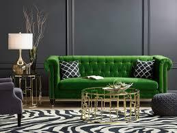exquisite botanical green velvet sofa