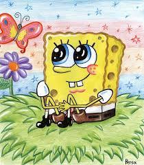 spongebob and butterfly by spongepersa spongebob squarepants